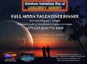 lemlunay resort, sarangani, valentines, full moon