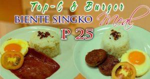 Tap-C & Burger Beinte Singko Meals