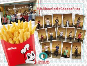sox bloggers & jolly crispy fries in cheese & garlic