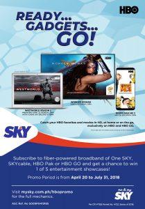 One SKY - HBO Raffle Promo