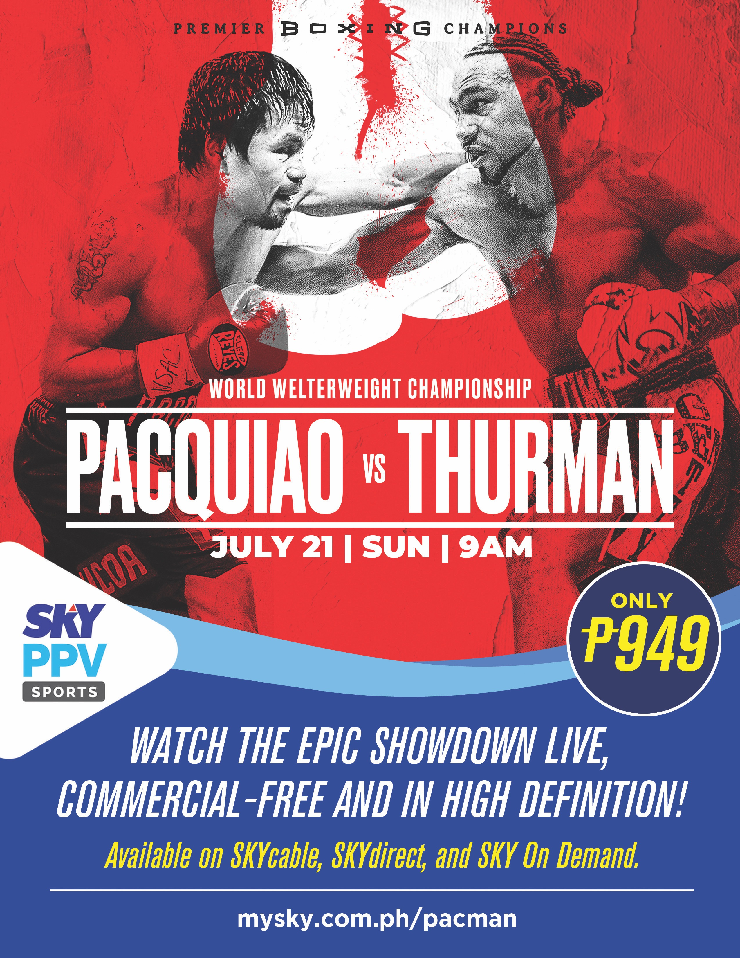 Poster of Pacquiao-Thurman Fight